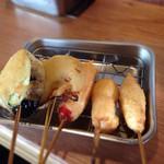 串かつでんがな - 140406 牛・鶏・ウインナー・玉葱・茄子