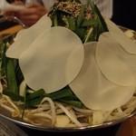 じろう桜 - もつ鍋は,味噌と醤油があります。