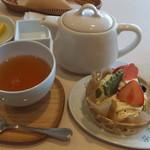 和cafe こころね - 抹茶モンブランセット