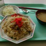 旭川医科大学食堂 - 炒飯 + サラダ