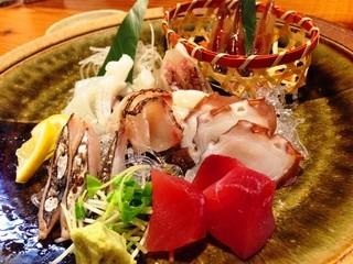 ひで松  東加古川店 - 刺身6種盛り!桜鯛昆布〆ウマァァ!