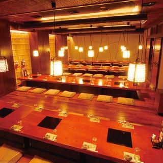 宴会最大100名様完全個室ご案内可能です。
