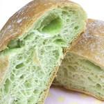 ととパン - 抹茶の生地にウグイス豆がイン☆♪