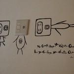 バーガリオン - 壁のコンセントの絵が可愛い
