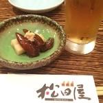 松田屋 - 今日も福井出張です❗️皆さんお疲れさま〜( ^ ^ )/■ 突き出しのホタルイカの沖漬け、旬の時期なので美味しいです!