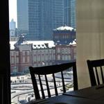 はん亭 - 新丸ビル5階なので、東京駅舎が見えます