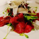 リストランテ 寺崎 - 馬肉のタタキ