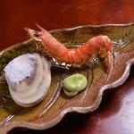 日本料理 日の出 - 蛤・車海老の塩焼