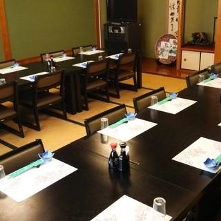 4名~84名様用テーブルイス席の個室が、5室ございます。