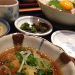 第二 登じま屋 - 副菜の揚げ出し豆腐も美味しかった!