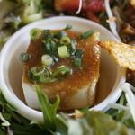 カフェバー プチプラム - 豆腐の甘味噌かけ