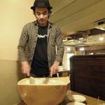 アネア カフェ - 熱々!よぉ〜く混ぜ混ぜ〜♬