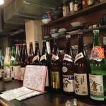 びっきや - 日本酒は豊富な品揃えのため、御当地ものを楽しめる。