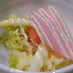 末廣軒 - ステーキコース サラダ