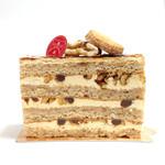 コンフィセリー・ラパート - カラメルとくるみのスポンジケーキの断面 '14 3月中旬