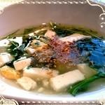 SIX 6 - 週替わりスープ★豆腐と七草スープ★