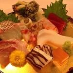 河内長野荘 - 料理写真:極み会席 豪華なお造り七種盛り