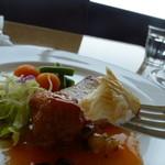 練馬展望レストラン - カレイの照り焼きと若鶏の唐揚げ甘酢ソース