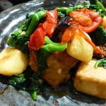 26090424 - 揚げ豆腐と春野菜のからあげ黒酢南蛮