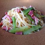 SUSSU - ベーコンと小松菜のペペロンチーノ