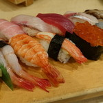 築地ビッグ寿司 - おまかせにぎり(2014年4月)