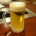 焼肉 絵理花 - 生ビール 500円