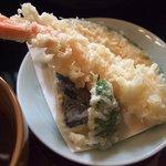 味彩かたかた - 小皿に天ぷら