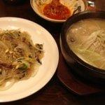 韓国家庭料理 ジャント - 「牛肉チャプチェ」と「サンゲタン」