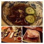 新宿 立吉 - もずく、蛤(ジューシーで美味しい)。