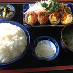 あさい食事処 - 日替定食580円☆今回はスコッチエッグ♪(第一回投稿分④)