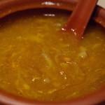 咸亨酒店 - 上海蟹の味噌とふかひれのスープ