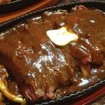御肉 - 心斎橋の御肉‼︎              ハラミステーキとデミソースの素晴らしいコラボ‼︎       最高です( ›◡ु‹ )