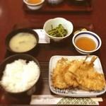 うお金 - キスの天ぷら定食☻