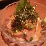 ふく鶴 - びんちょう鮪ゴマたれ漬