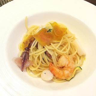 La Bonta - 201203 魚介とカラスミのスパゲティ