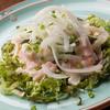 貝柱と野菜の梅肉ドレッシング