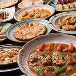 浪漫風 - こだわりの洋食コース!料理9品、飲み放題付4600円コース。