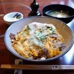今朝 - すき焼丼(玉子とじ) 1575円。
