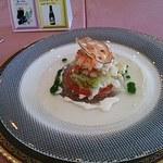テリーヌ・フレンチレストラン - 前菜、海老とキャベツのマリネ