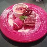 フランコベルゴ - プチディナーコースのデザート盛り合わせ