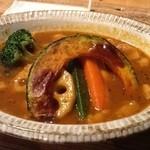 CURRY&BAGEL Hakoniwa - とろみスープのポークカレー5番(辛口)