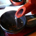 いづみや - 蕎麦湯