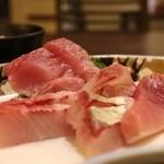 千里浜 - 刺身定食 900円。