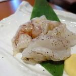 松庵 - ぶつ切り大えび(特大のホワイトタイガー使用)