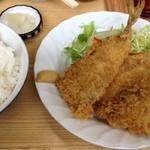 峠茶屋 - 料理写真:アジフライ定食