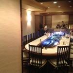 小福 - 2階 鯉の生簀のテーブル席