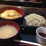 藪伊豆 - ミニかつ丼と もりそば   550円