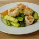 ほんこん中華料理 - 季節野菜と海老の炒め物