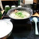 吉野家 - もつ煮込み膳 590円 期間、店舗限定。