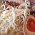 らーめんの土佐屋 - 背油塩ラーメン麺拡大